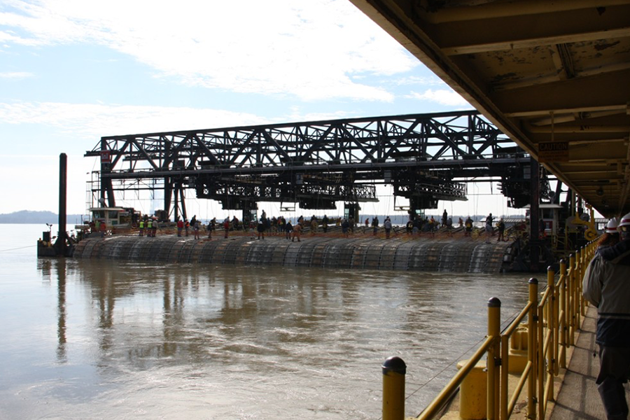 NREC has been awarded a contract to continue efforts with the US Army Corps of Engineers to modernize the mat sinking operations that occur on the Mississippi river.