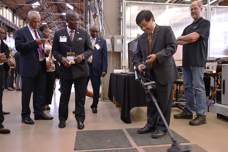 Ambassadors from 34 countries visit the National Robotics Engineering Center (NREC).